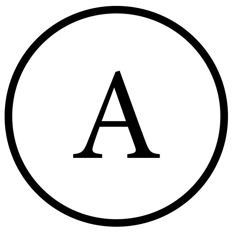 Das Symbol für die chemische Reinigung A.