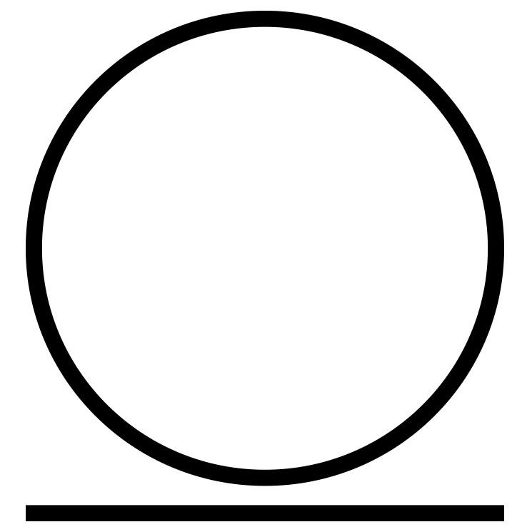 Das Symbol für eine schonende chemische Reinigung.
