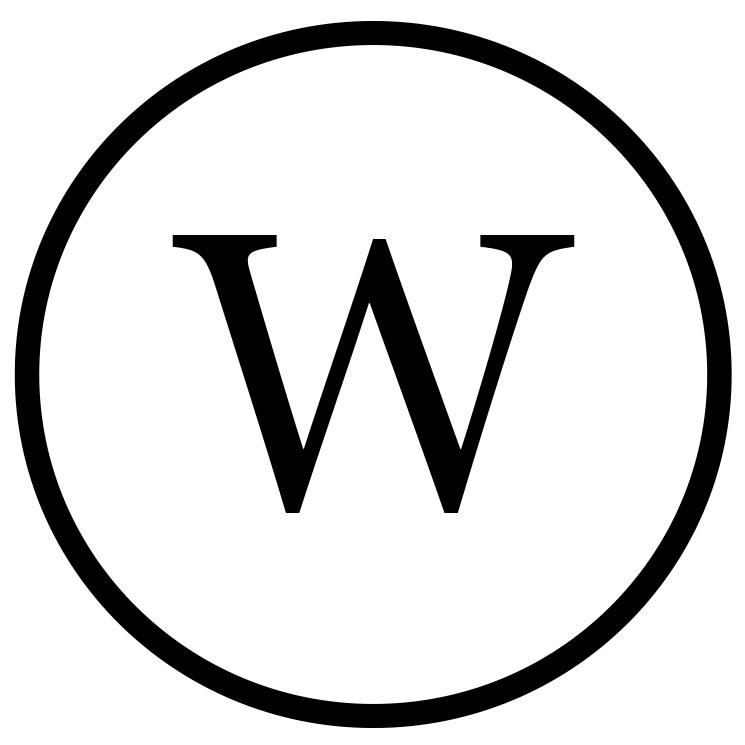 Das Symbol für die chemische Reinigung W.