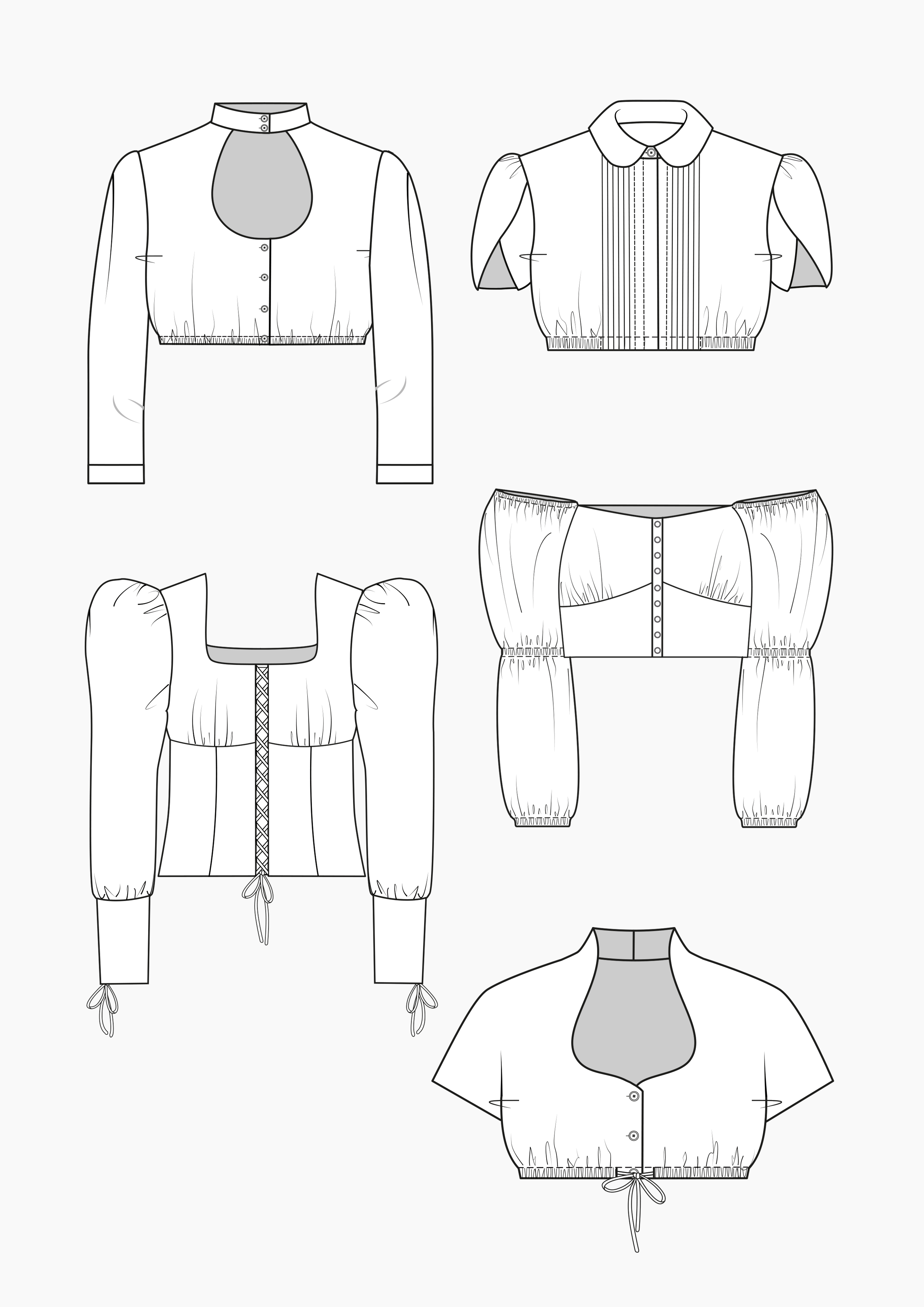 Produkt: Schnitt-Technik Dirndl-Blusen