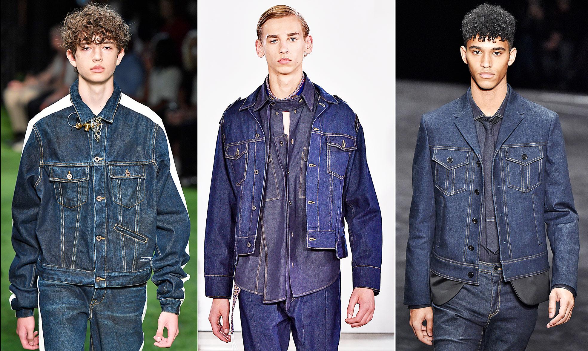 Jeansjacken auf dem Menswear Runway