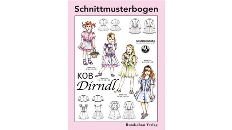 Verschiedene Schnitt-Techniken für Dirndl in Kindergrößen.