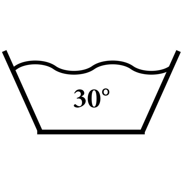Das Symbol für einen Waschgang mit 30 Grad.