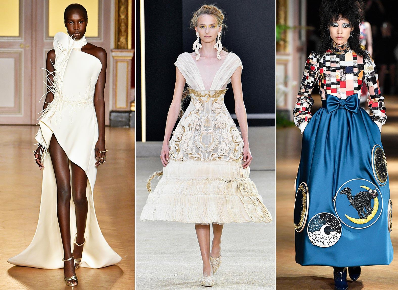 Haute Couture Model auf dem Laufsteg in Paris