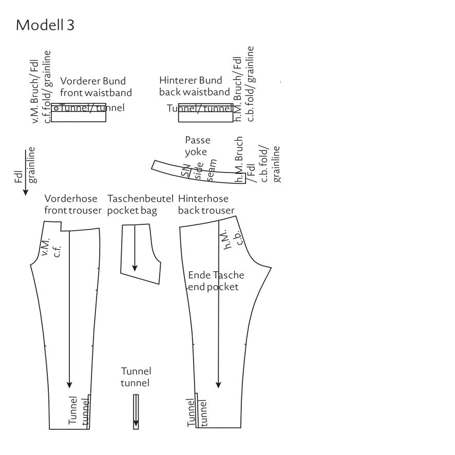 Schnittmuster Yogahose