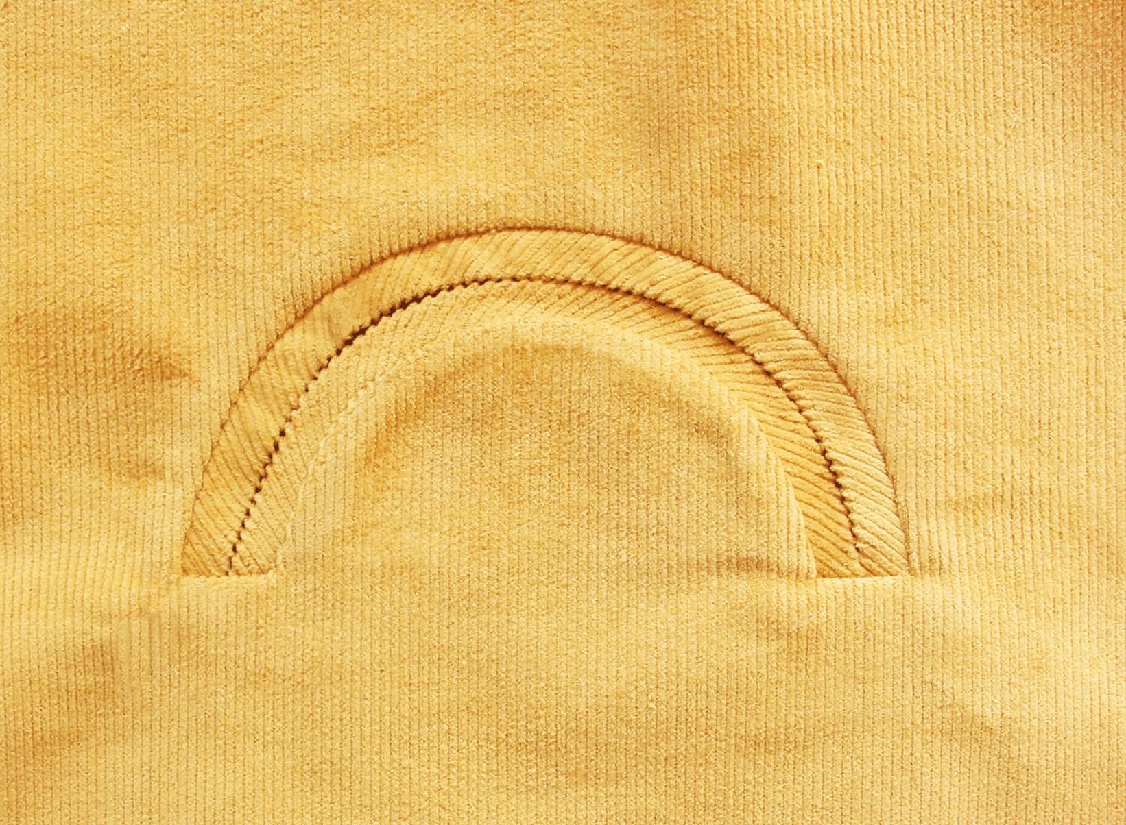 Nähanleitung für Paspeltasche in Halbkreisform