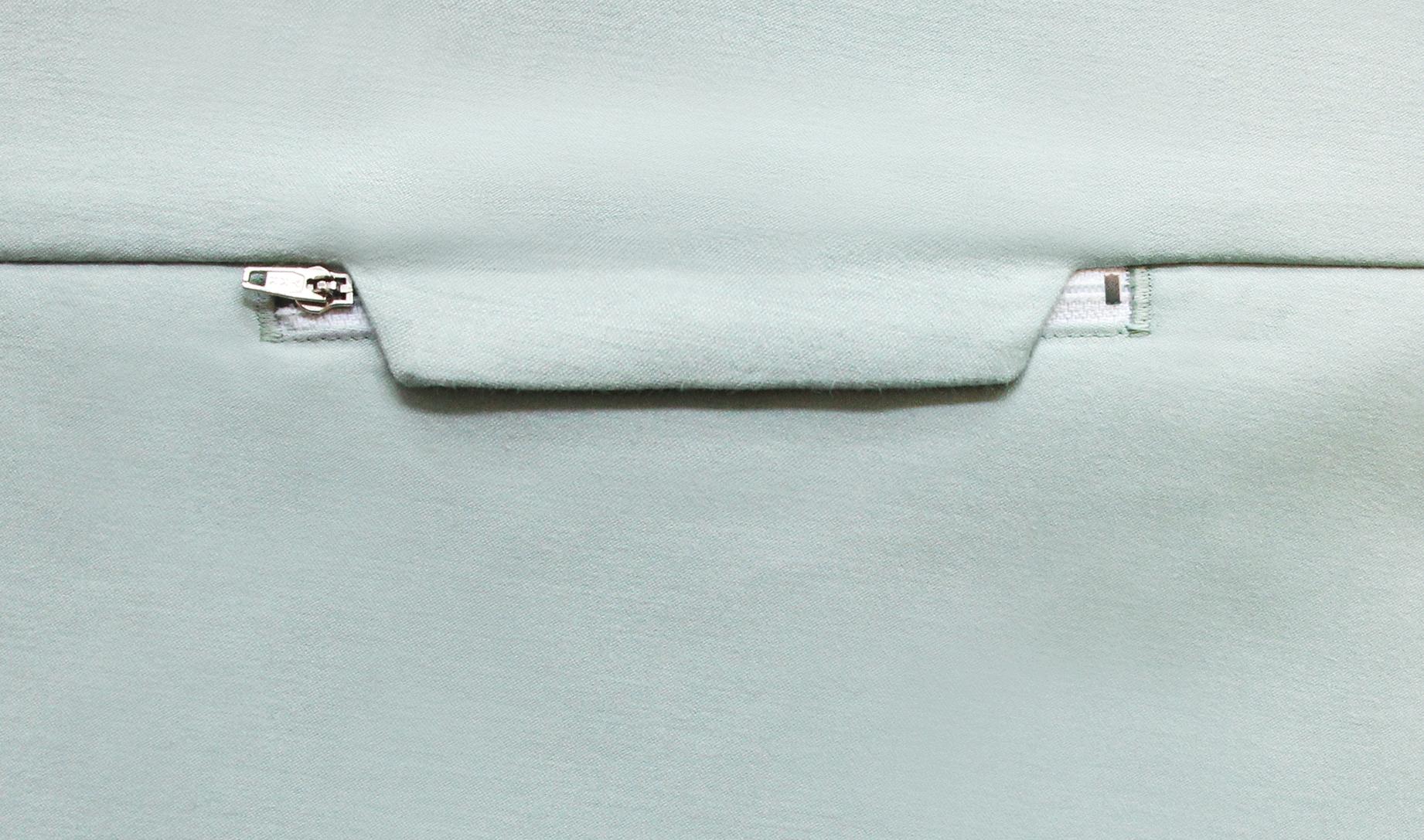 Nähanleitung für verdeckte Reißverschlusstasche
