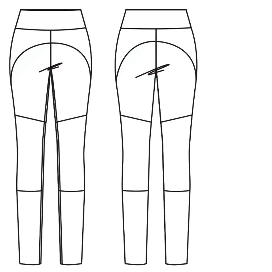 Yoga Legging mit Teilungsnähten