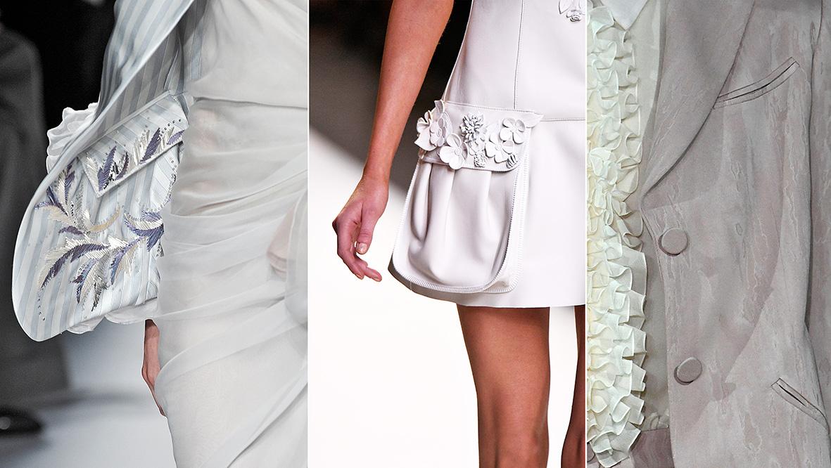 Verschiedene Taschenformen auf dem Laufsteg.