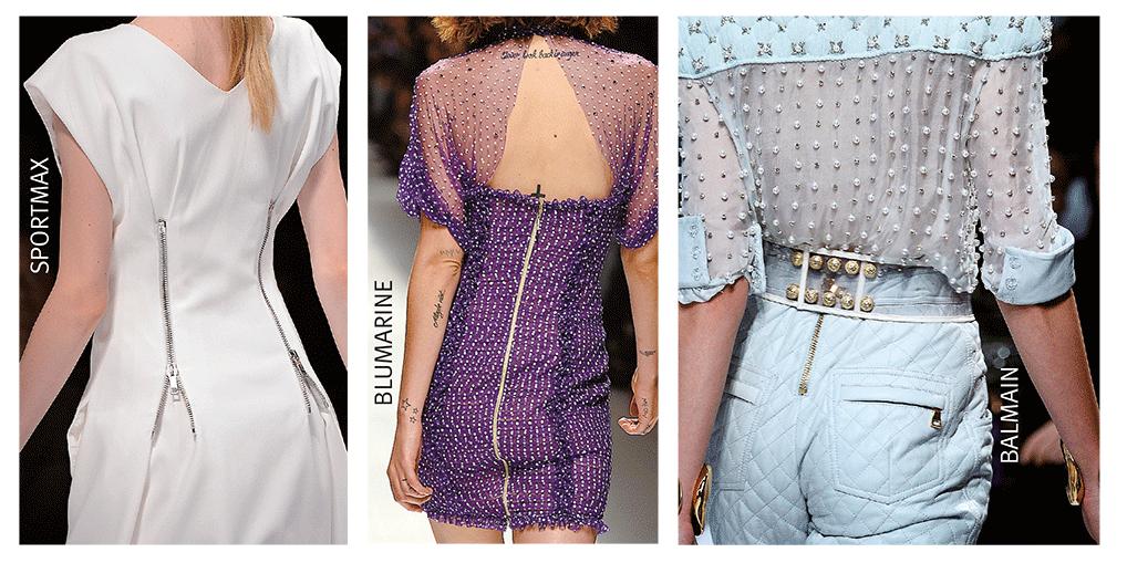 Mode mit dekorativen Reißverschlüssen