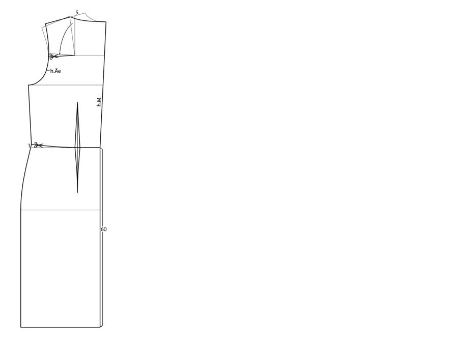 Anleitung zur Schnittkonstruktion für ein Etuikleid