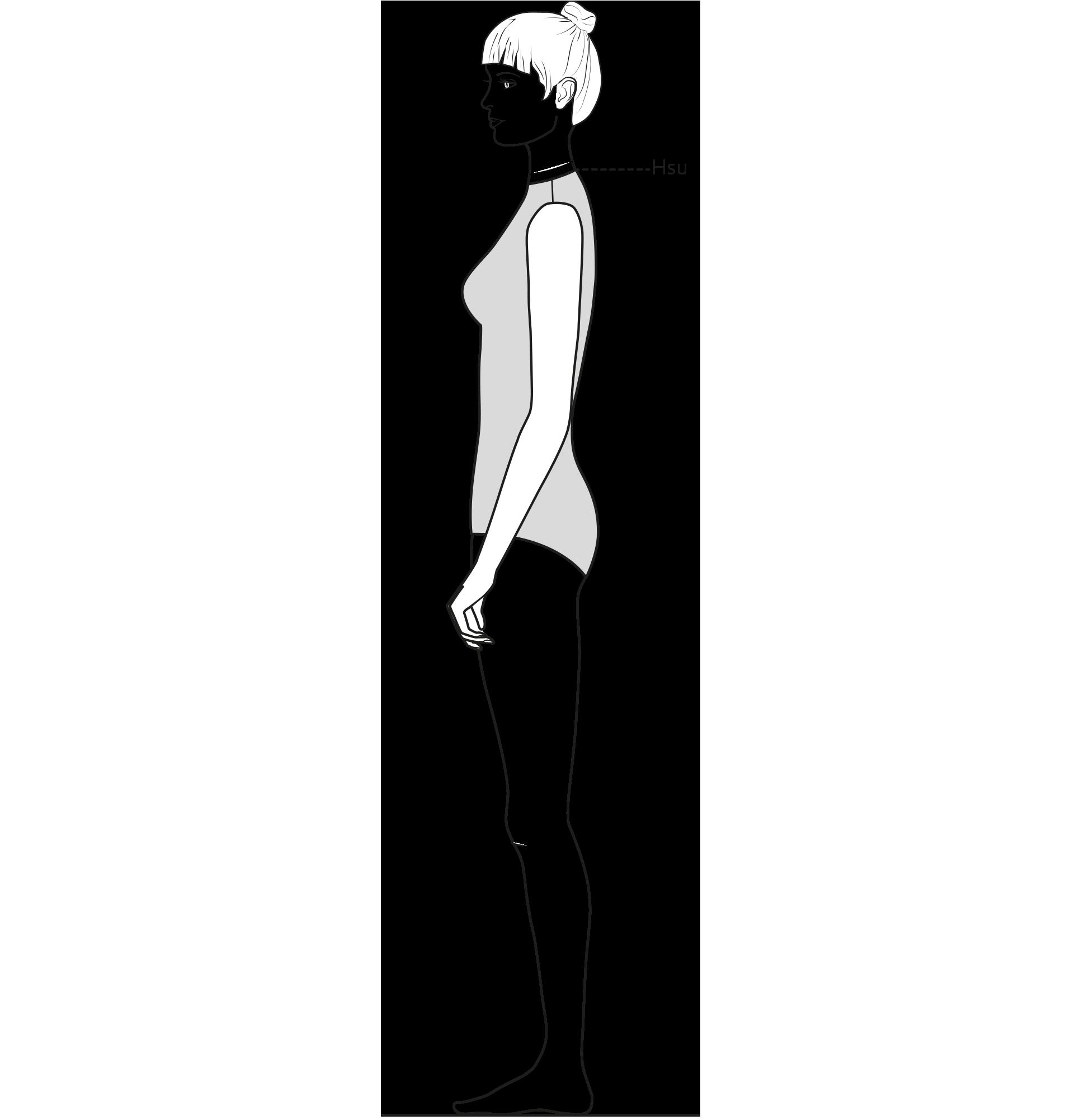Diese Zeichnung zeigt das Messen des Halsspiegelumfangs.