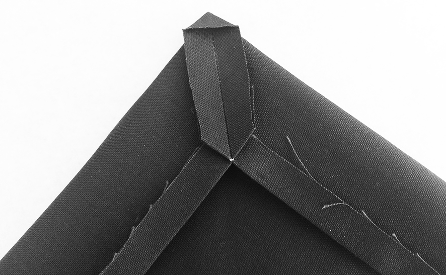 Anleitung zum Nähen einer Briefecke