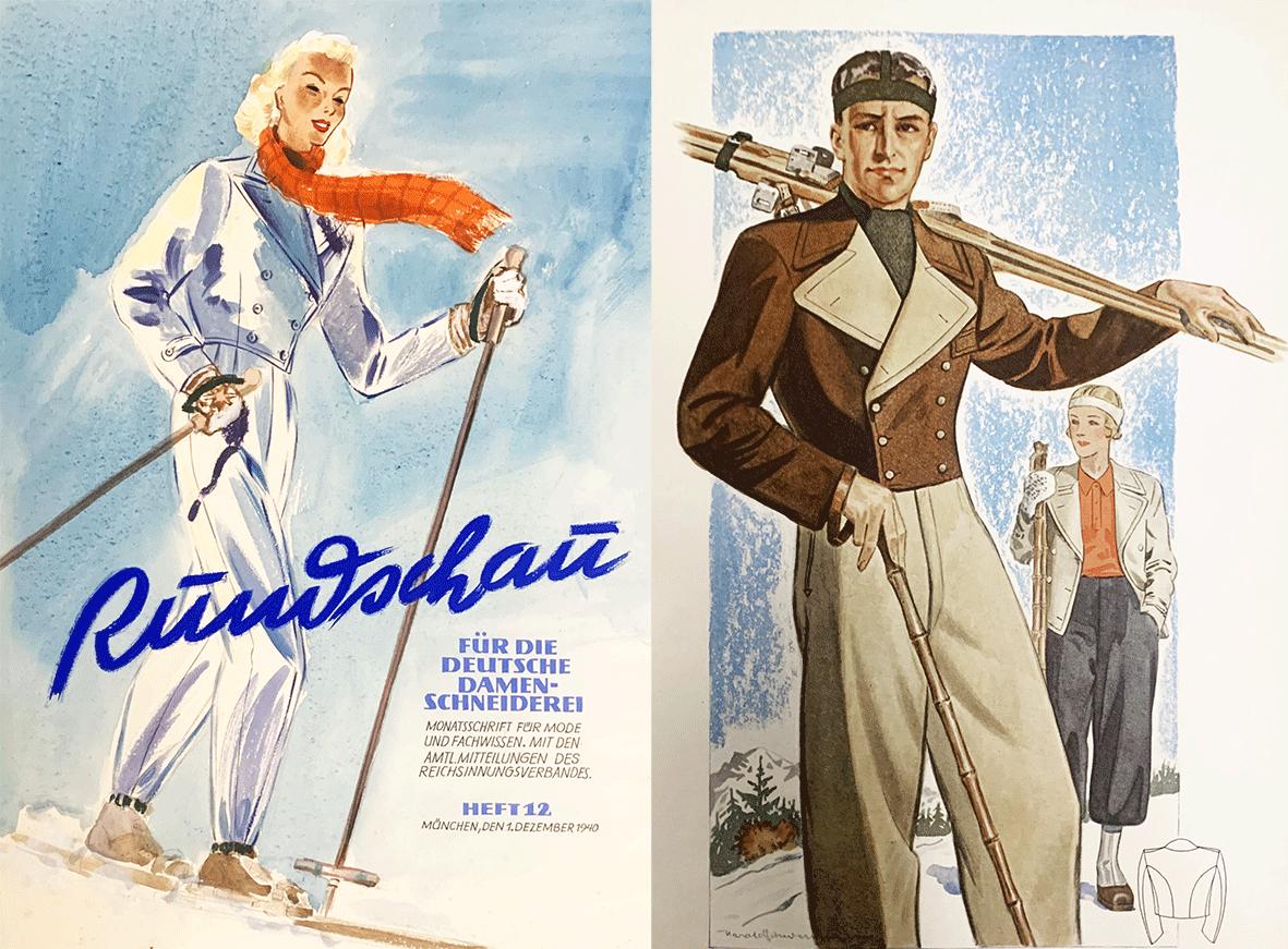Historical images of ski fashion