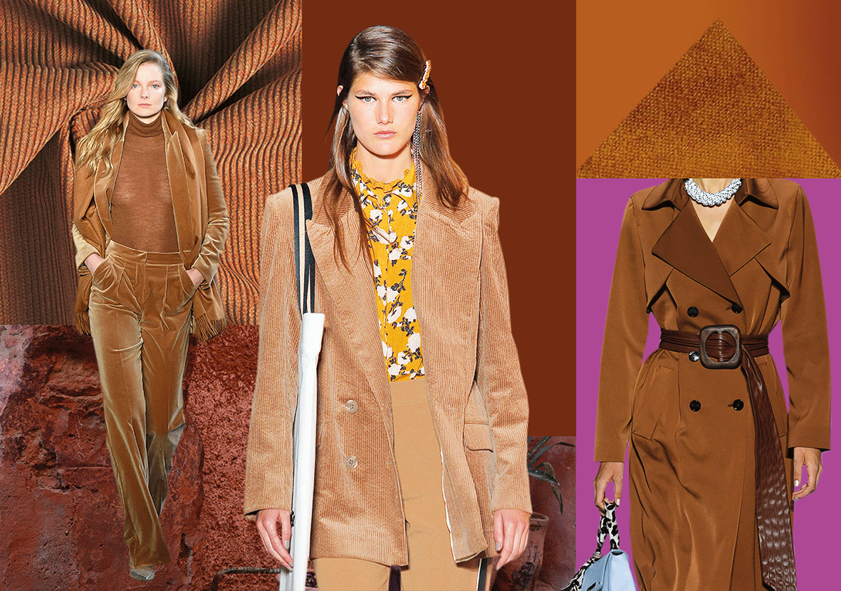 Mode in der Trendfarbe Basic Brown