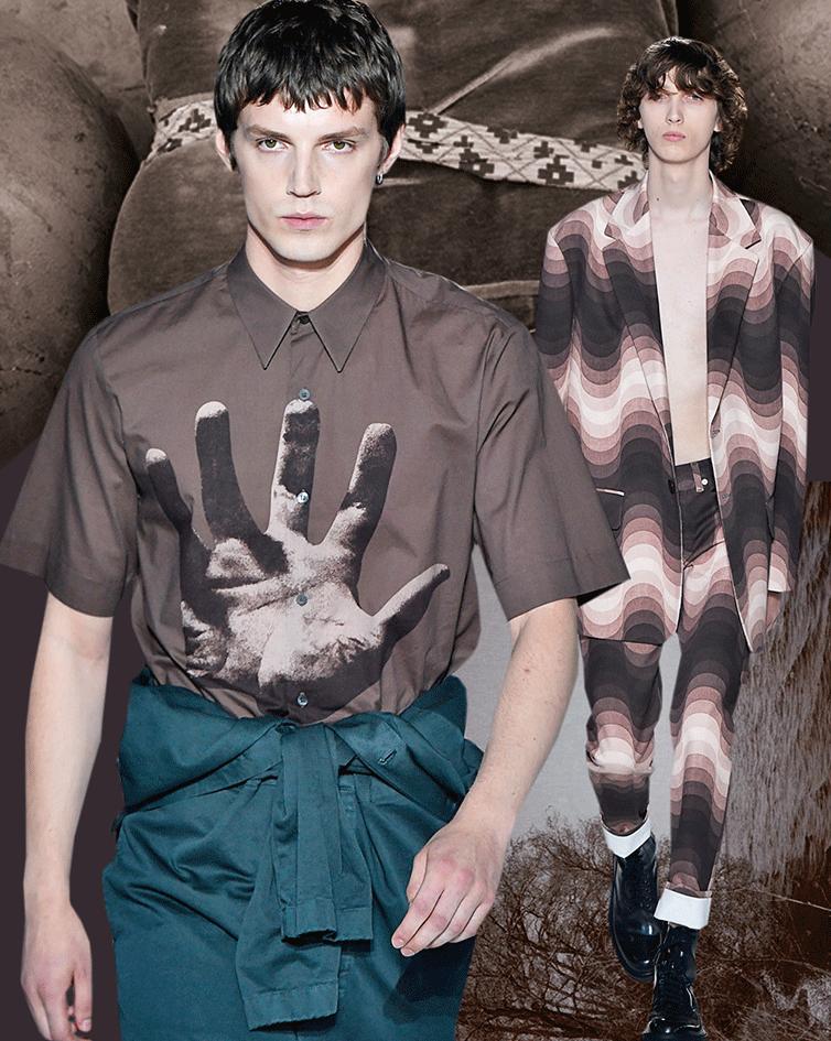 Mode in der Trendfarbe Sepia Brown