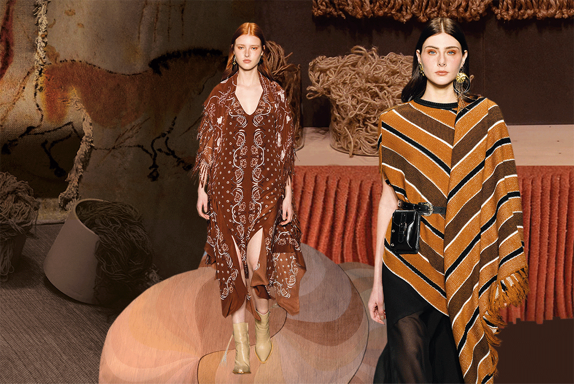 Mode in der Trendfarbe Archaic Brown
