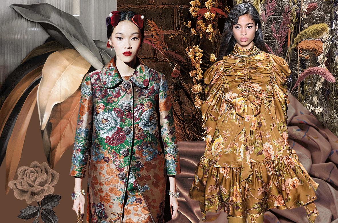 Mode in der Trendfarbe Blooming Brown
