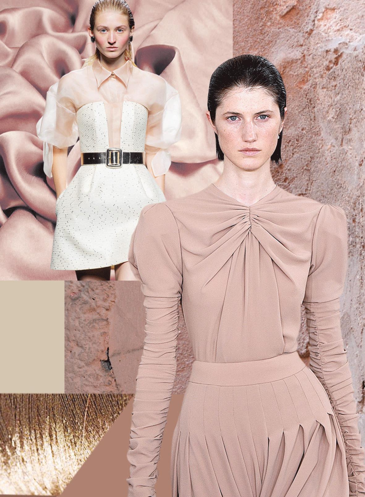 Mode in der Trendfarbe Fluid Brown
