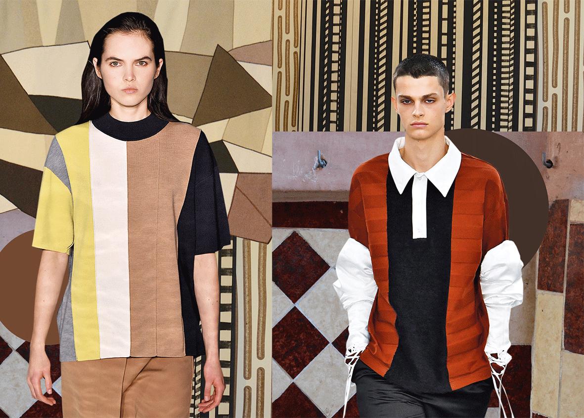 Mode in der Trendfarbe Grafic Brown