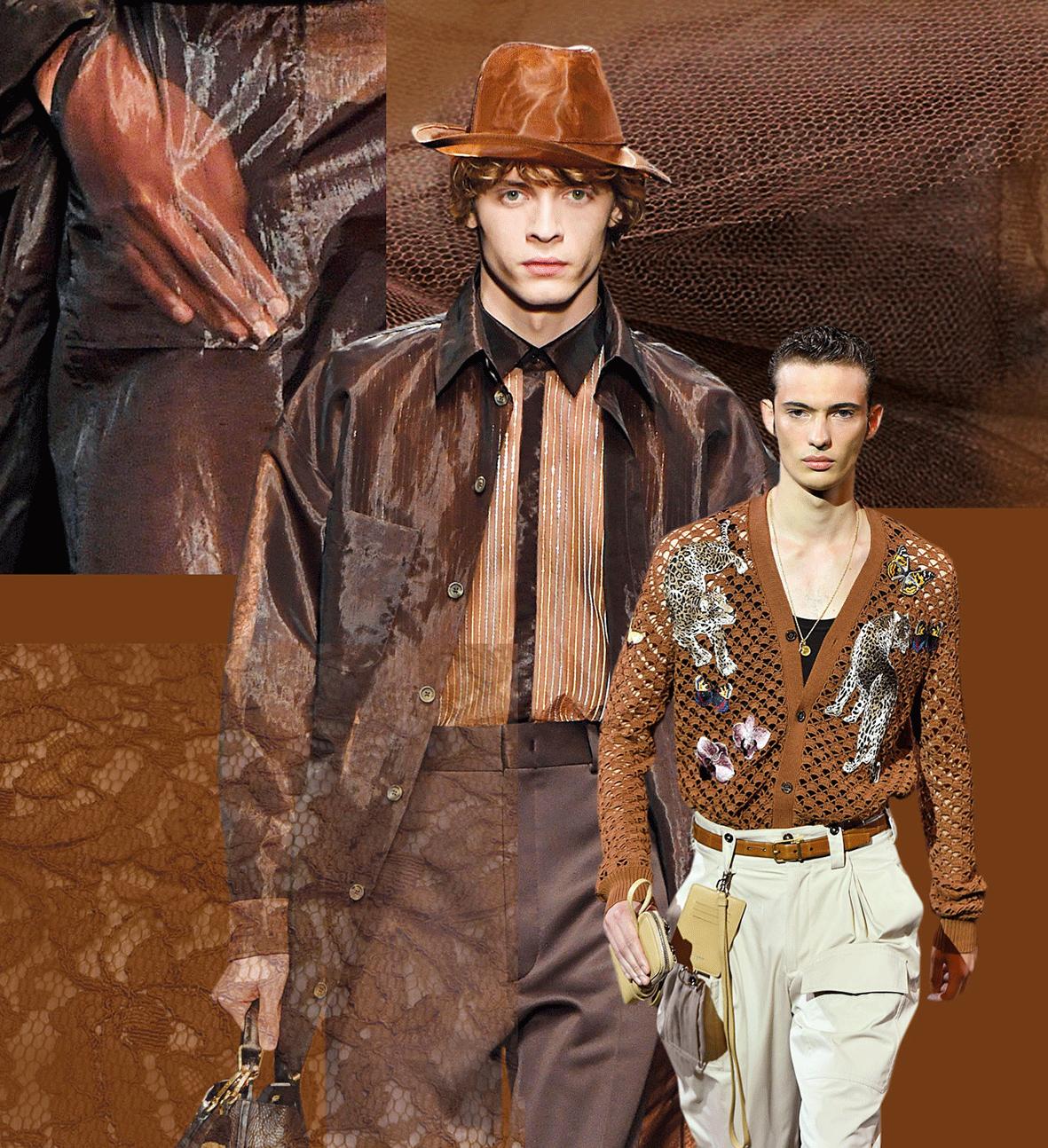 Mode in der Trendfarbe veiled brwon
