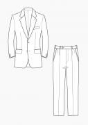 Produkt: Schnitt-Technik Gradieren Sakko und Hose