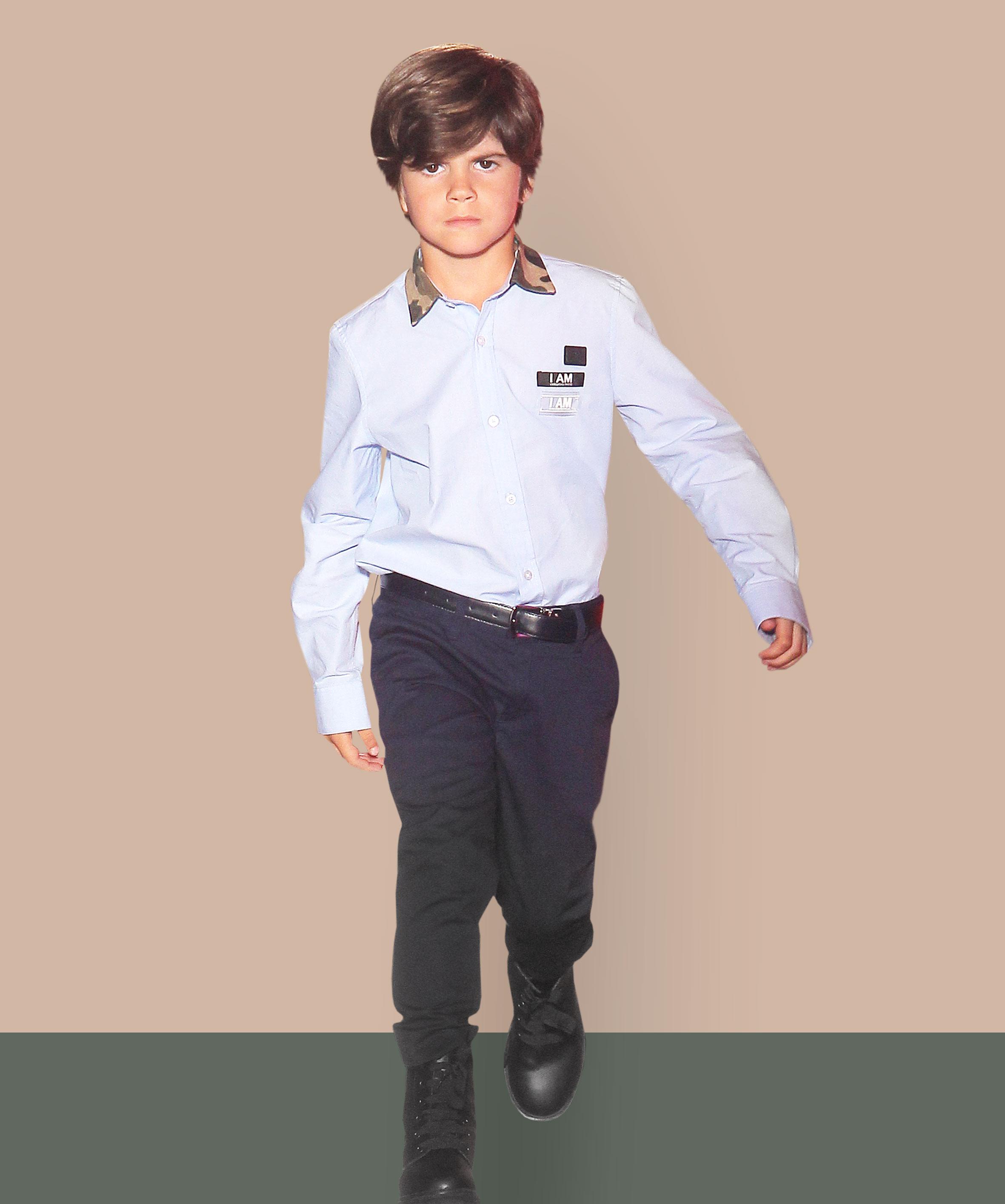 Kinderhemd auf dem Laufsteg