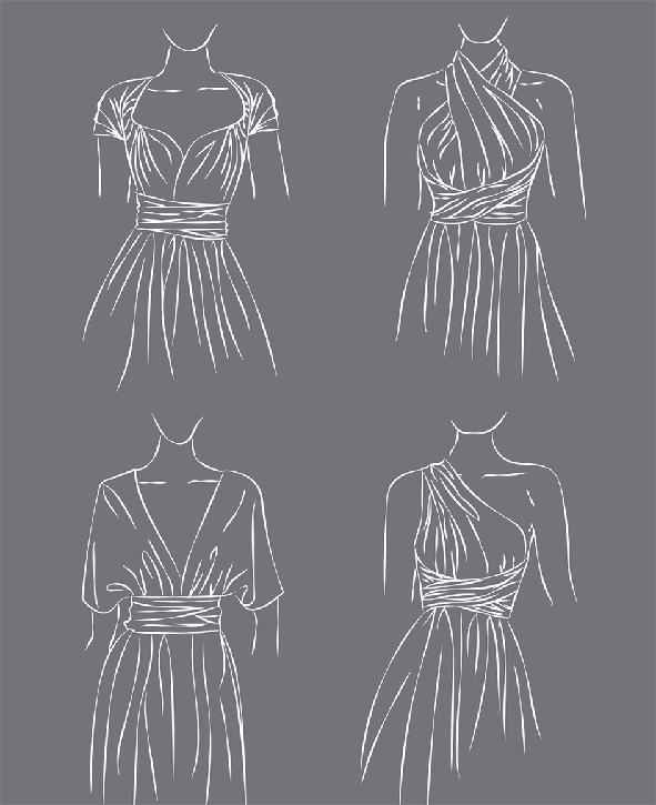 Tragevarianten des Infinity Dress