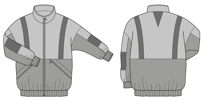 Oversize Jacke für Herren