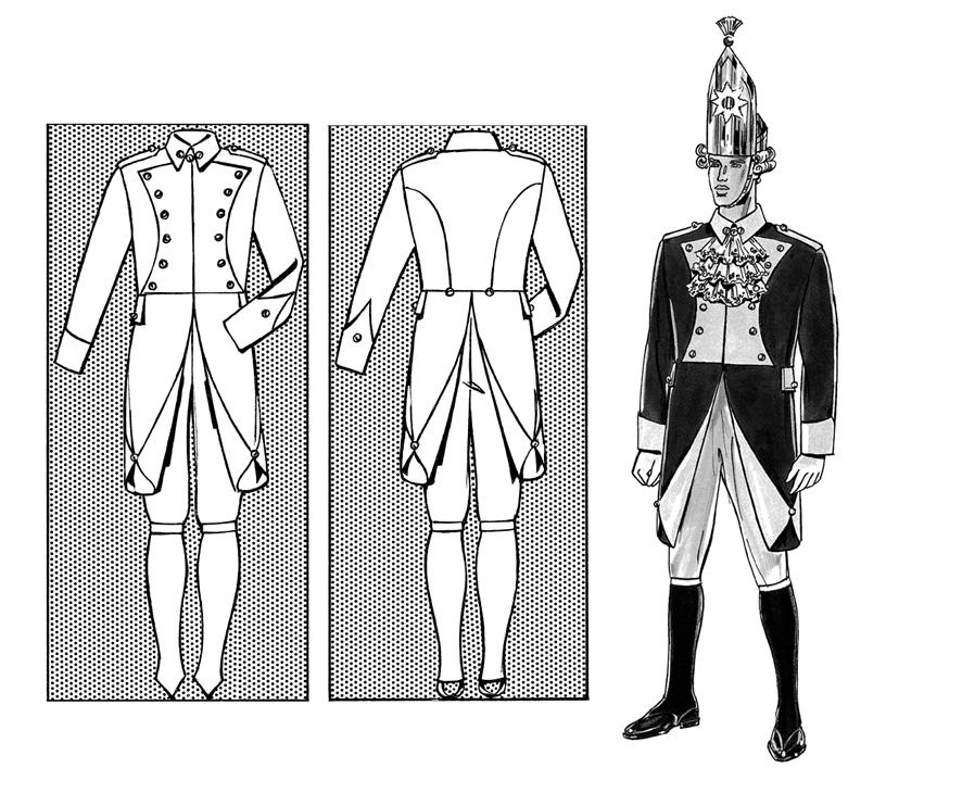 Gardeuniform - Mannschaftsuniform der Roten Funken