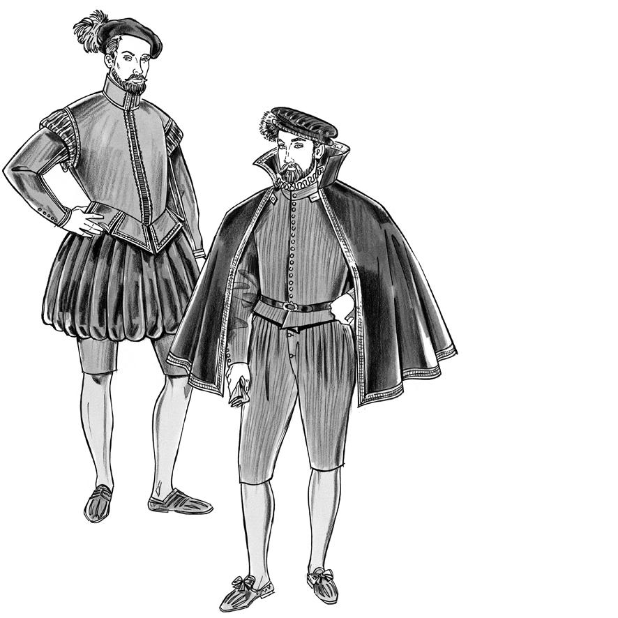 Historische Kleidung aus der Renaissance