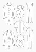Produkt: Schnitt-Technik Hochzeitsanzüge