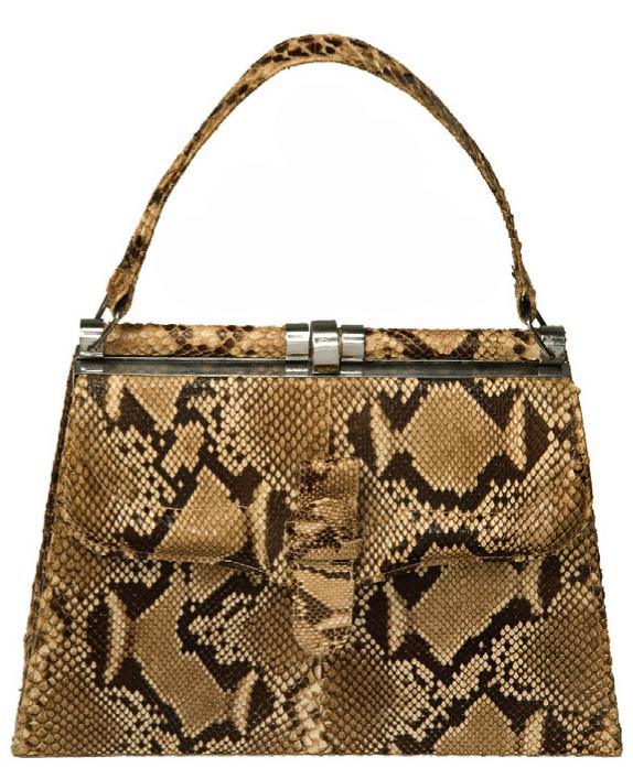Vintage Handtasche aus Schlangenleder