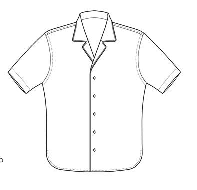 Hemd mit Paspelierung