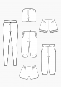 Produkt: Schnitt-Technik Shorts, Leggings, Kniebundhose