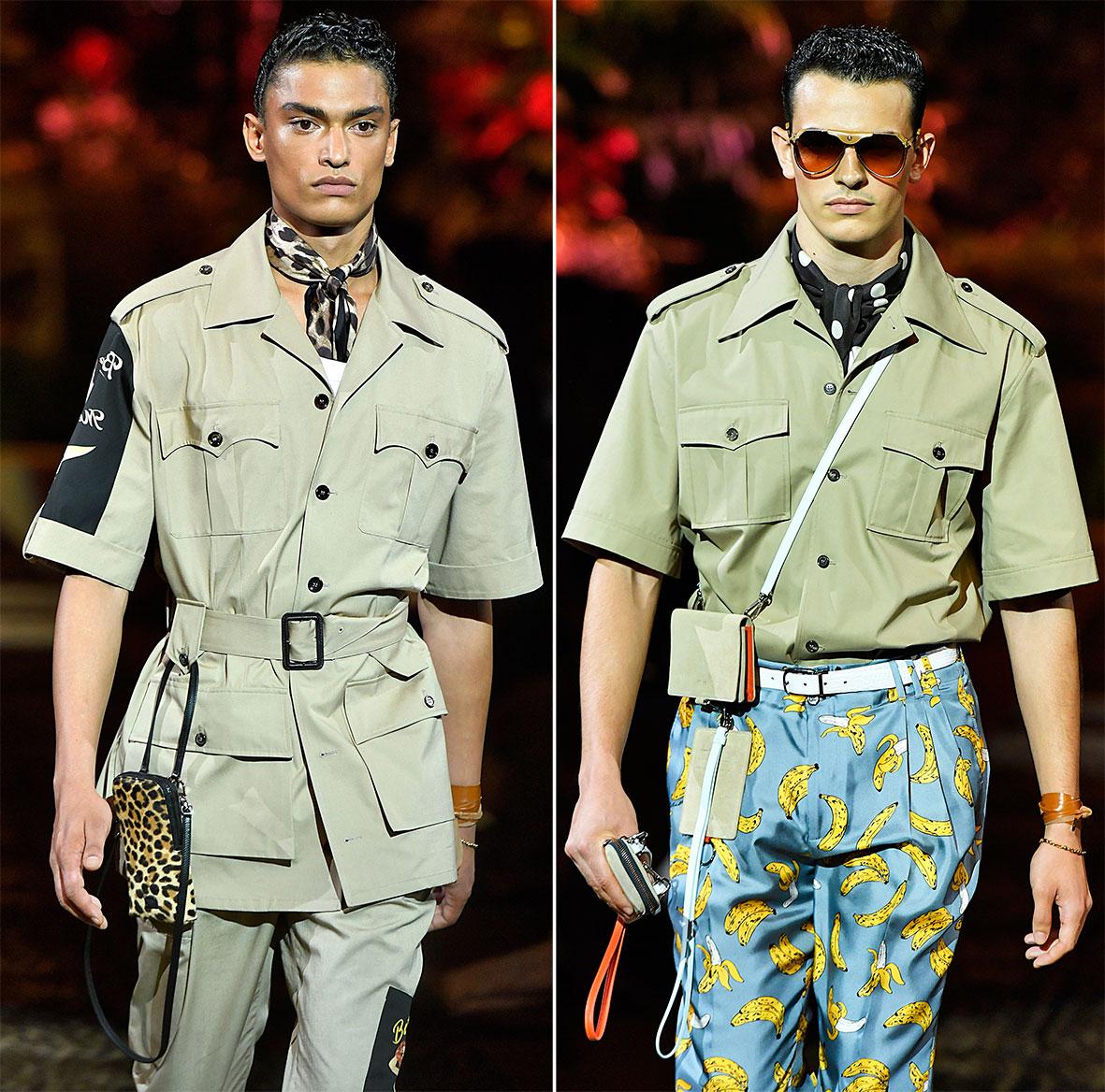 Safarihemd bei Dolce & Gabbana