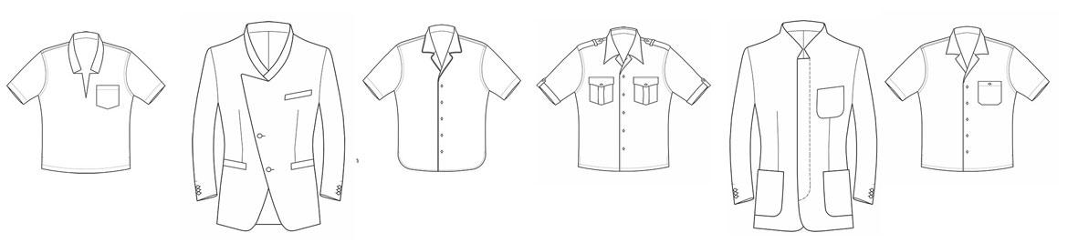 Verschiedenen Kragenformen in der Herrenbekleidung