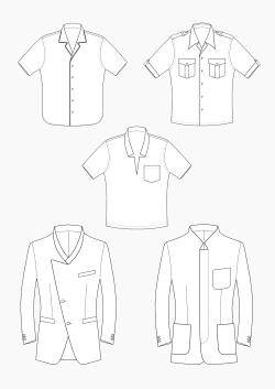 Produkt: Schnitt-Technik Kragenvarianten für Sakko & Hemd
