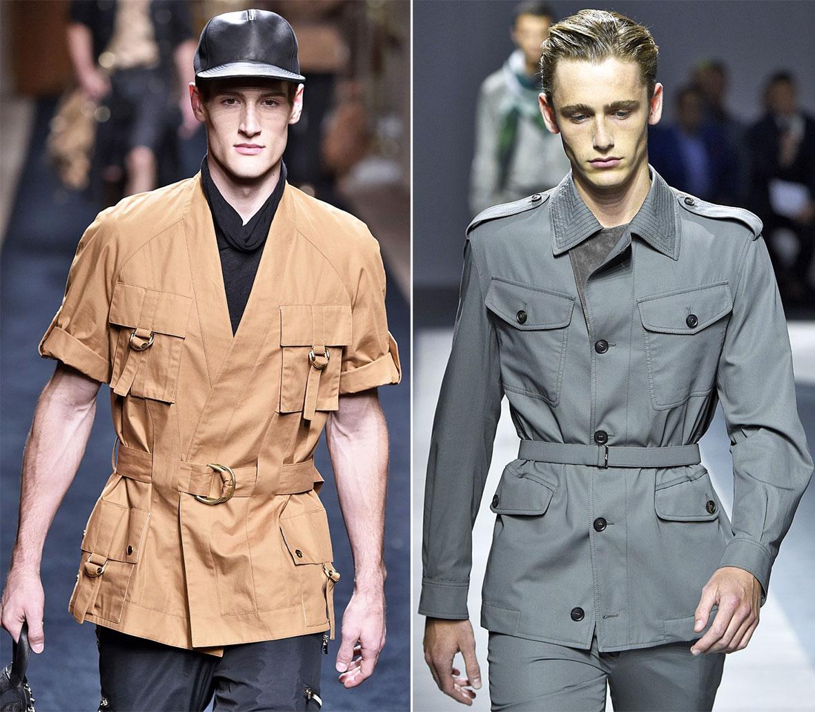 Safari Jacken für Herren auf dem Laufsteg