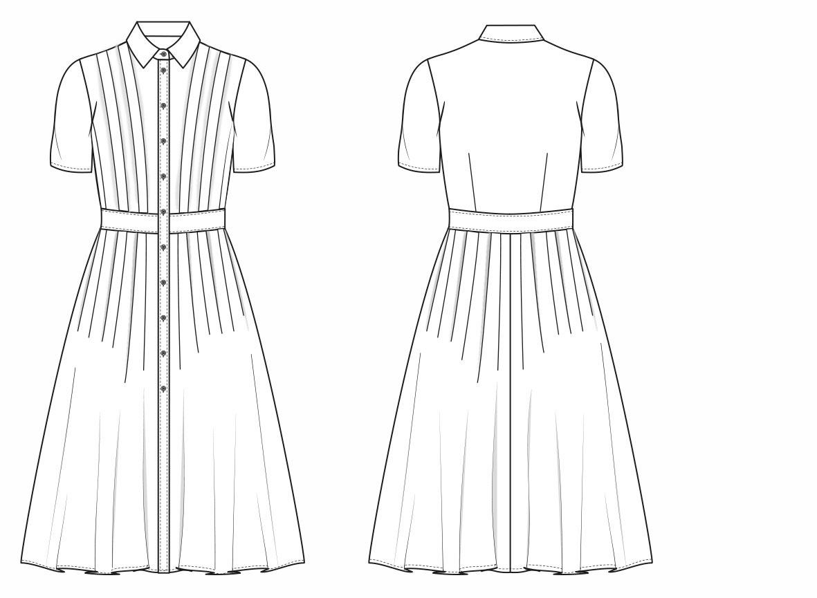Tailliertes Hemdblusenkleid