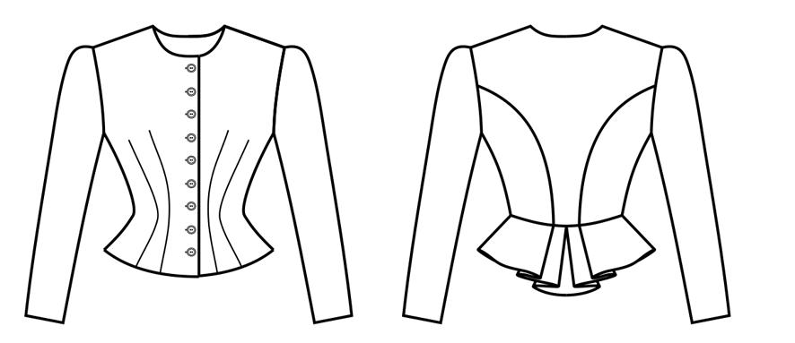 Oberteil eines Tegernseer Dirndl mit Schößchen im Rückteil