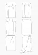 Produkt: PDF-Download: Schnitt-Technik Bleistiftröcke