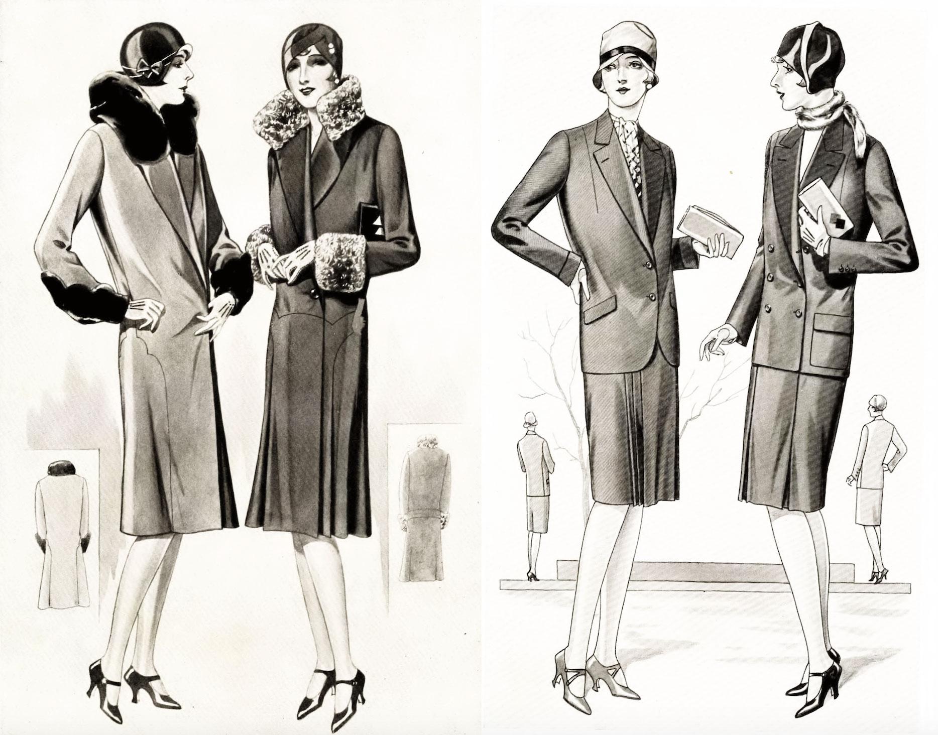 Damenbekleidung der 20er Jahre