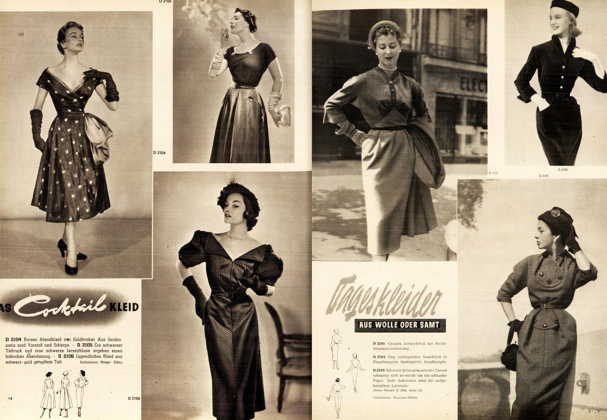Damenbekleidung der 50er Jahre