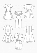 Produkt: Download Schnitt-Technik DOB Kleider mit Schnürung