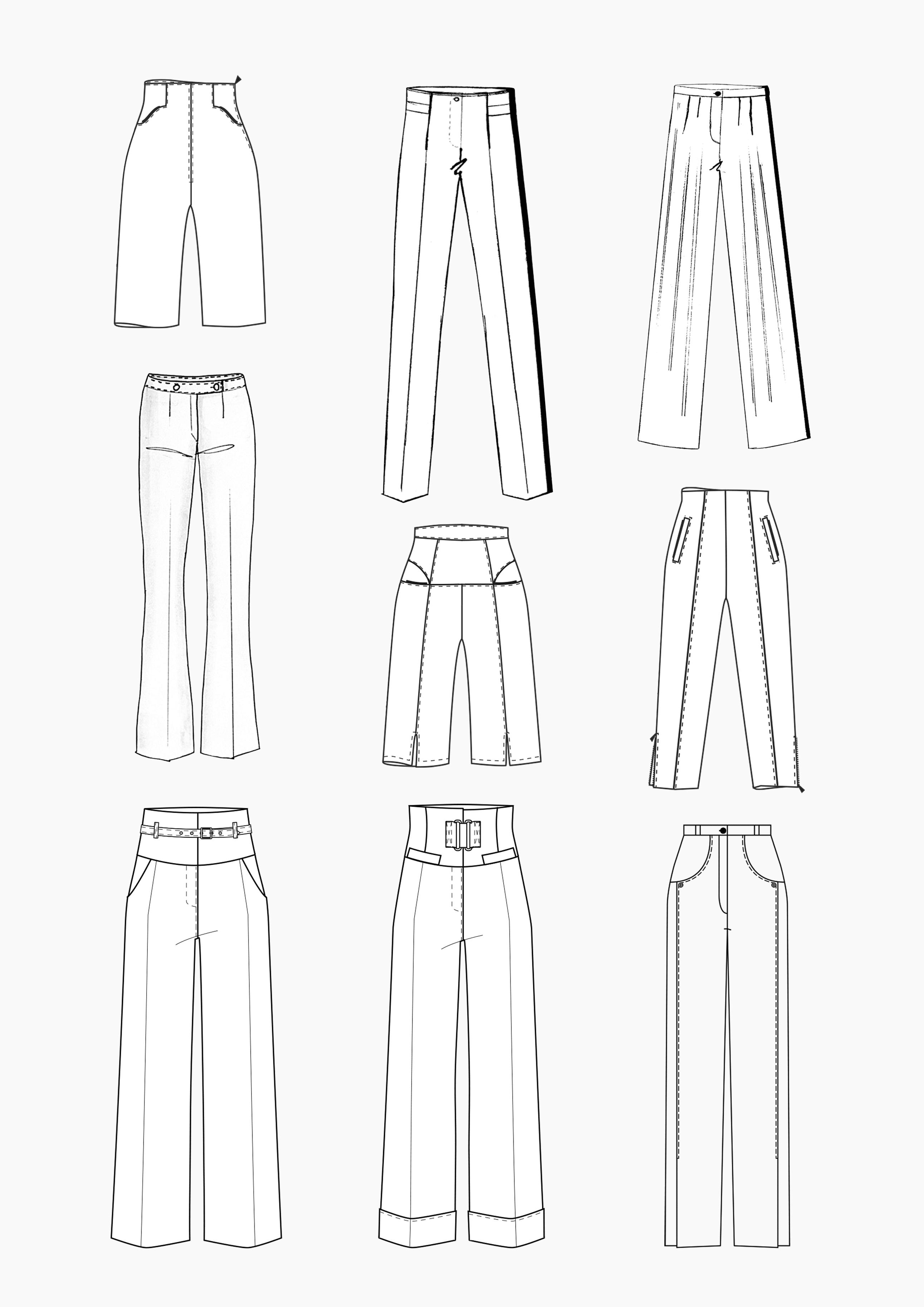 Produkt: Schnitt-Technik Hosen mit hoher Taille