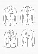 Produkt: Schnitt-Technik Slim-Fit Sakkos für Herren