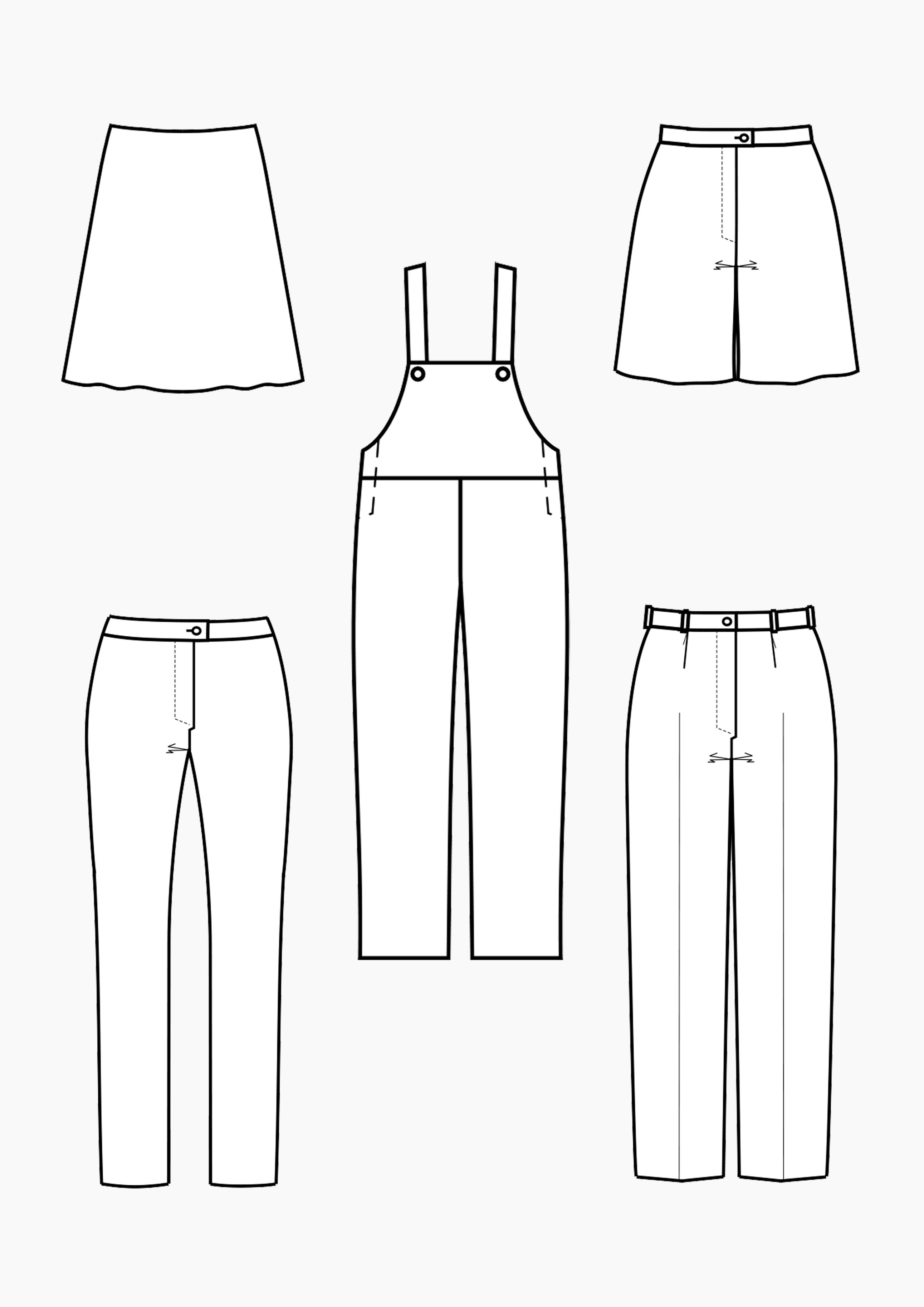 Produkt: Schnitt-Technik Grundschnitt-Konstruktionen Röcke & Hosen für Mädchen