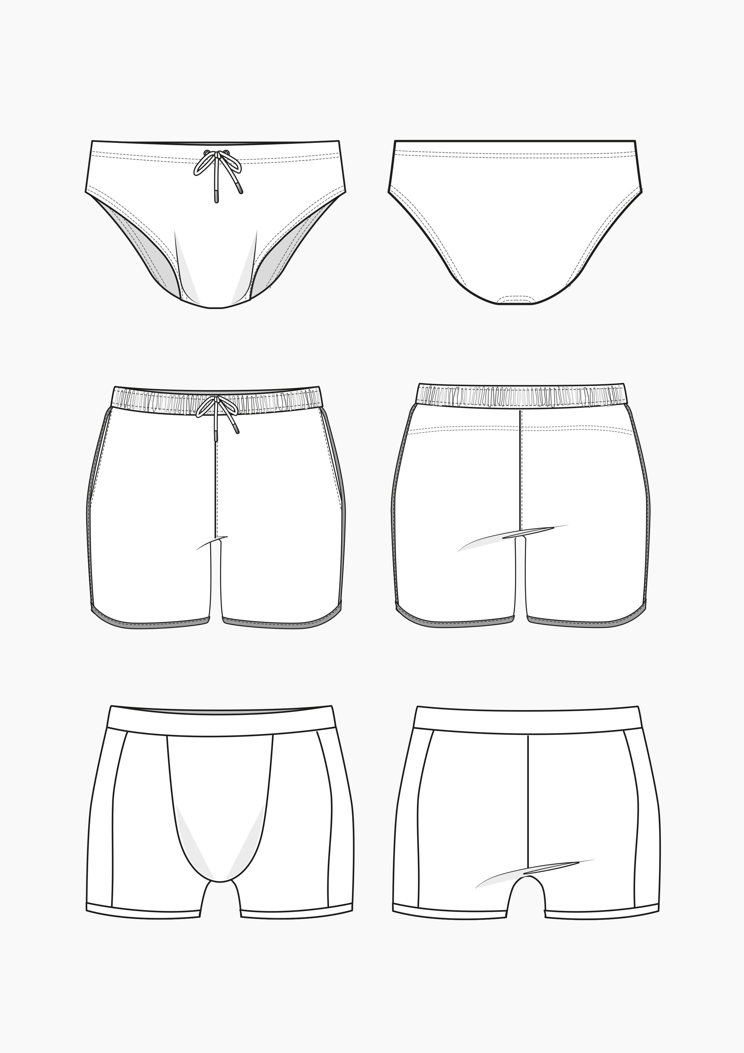 Produkt: Schnitt-Technik Badehosen für Herren