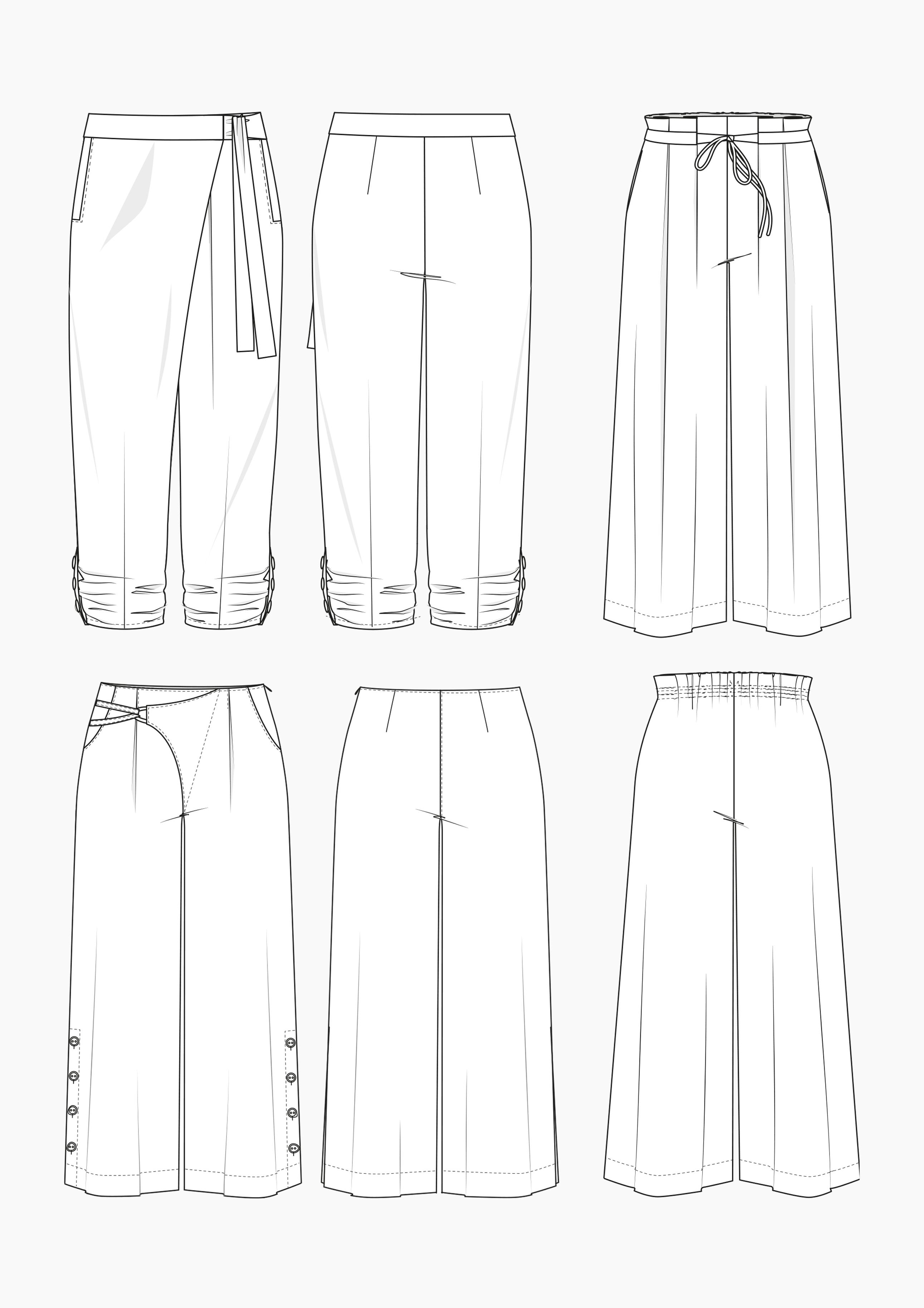 Produkt: Schnitt-Technik Hosen in großen Größen